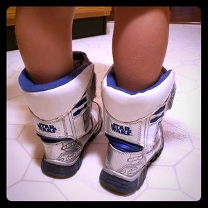 Star Wars Light Up Boots-Size 11